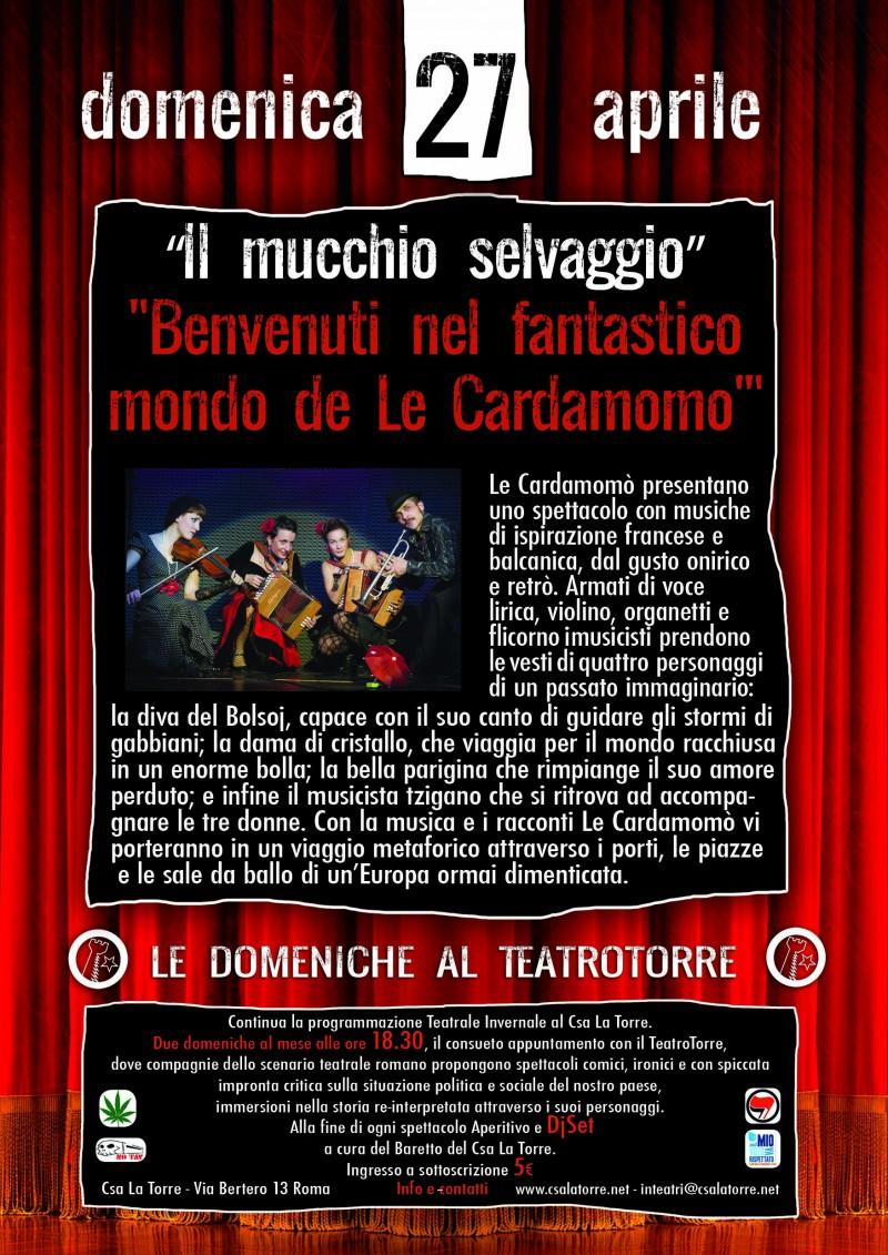 locandina spettacolo CARDAMOMO'
